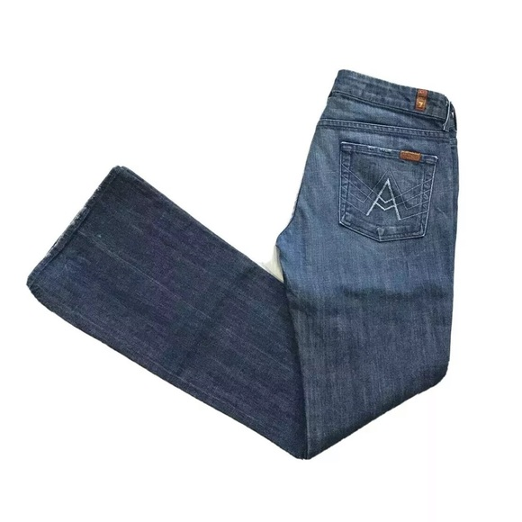 """7 For All Mankind """"A"""" Pocket Flare Stretch Jeans"""